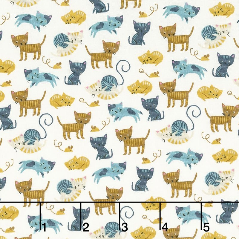 Woof Woof Meow by Stacy Iset Hsu for Moda Fabrics 20564-21