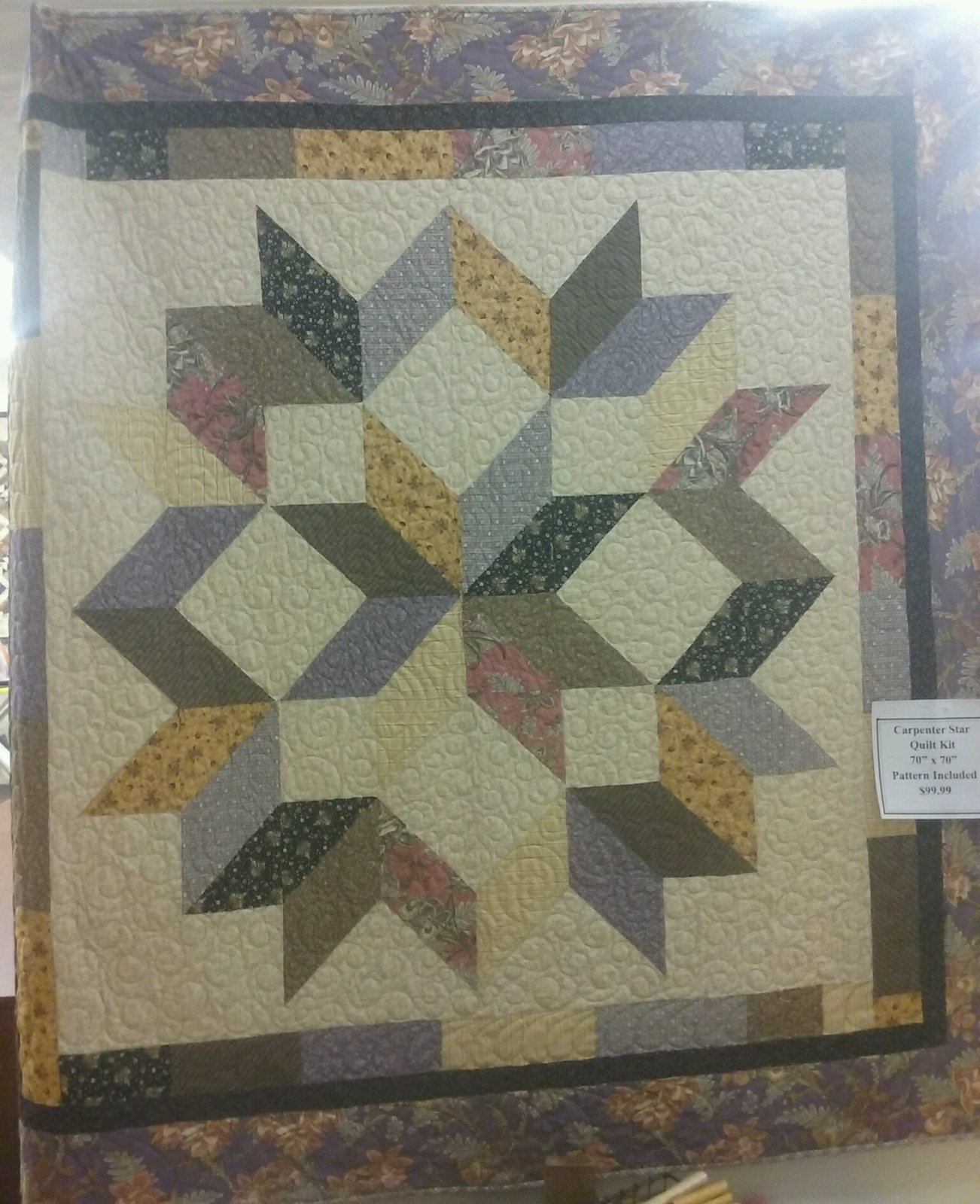 Carpenters Star Quilt Kit 70 X 70 Pattern Included