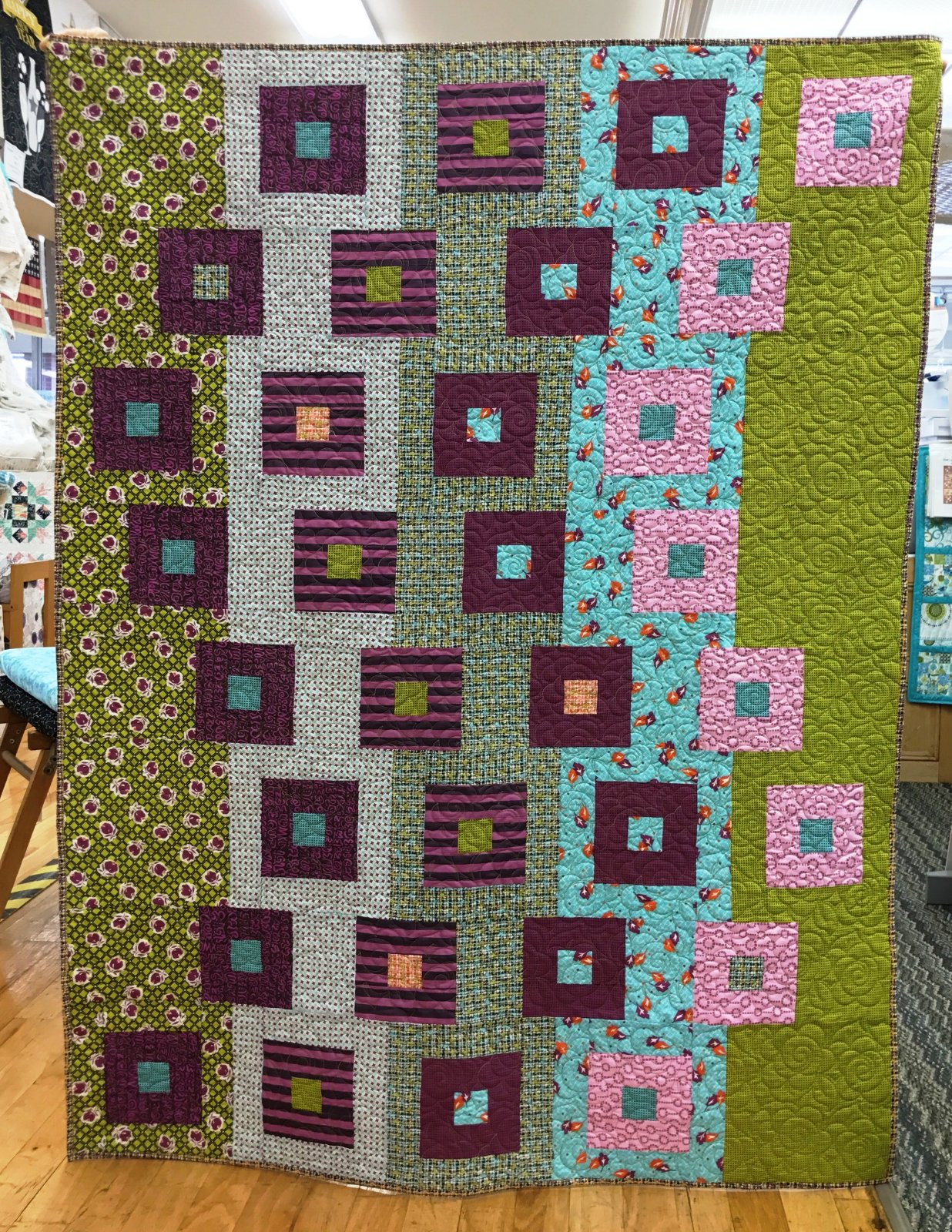 Jen Kingwell Cascading Cubes Quilt Kit