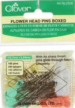 Clover Flower Head Pins Boxed 100CT 092216