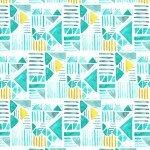 Shape Parade by Michael Miller Fabrics DC7799-WATR-D