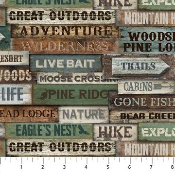 Outdoor Adventure Flannel by Northcott Fabrics 3187-36