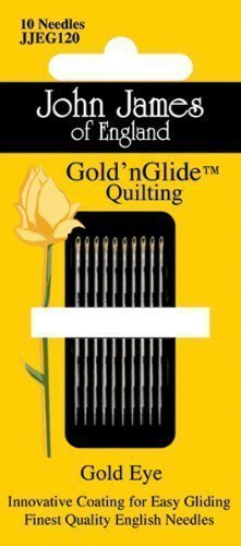 John James Gold 'nGlide Quilting 10 needles size 11 051816