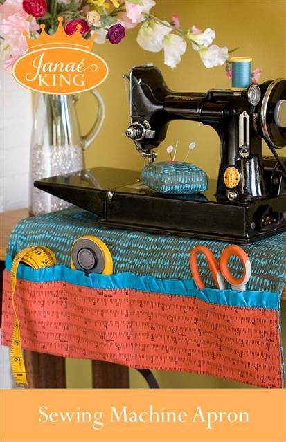 Janae King Sewing Machine Apron w/ Pincushion Pattern