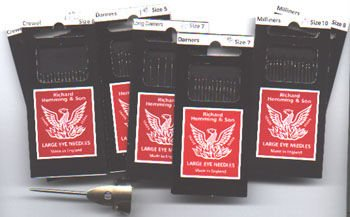 Richard Hemming & Son Large Eye Needles Betweens Size 8