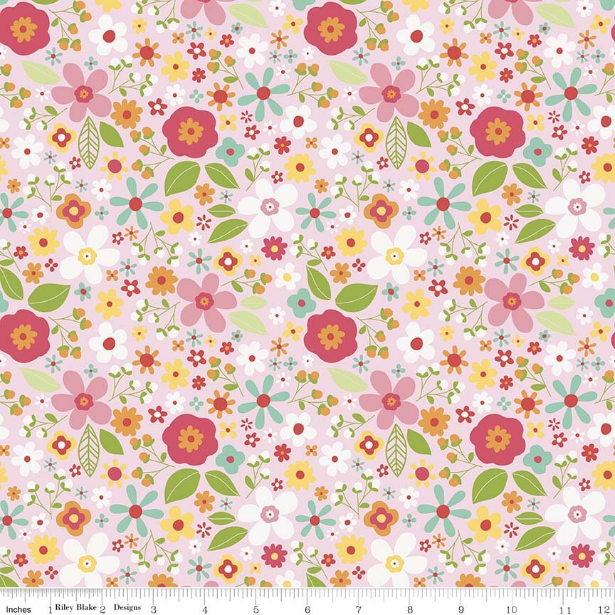 Garden Girl by Zoe Pearn for Riley Blake Designs C5662-pink