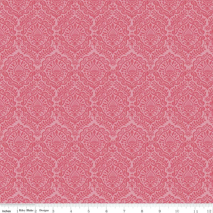 Garden Girl by Zoe Pearn for Riley Blake Designs C5663-raspberry
