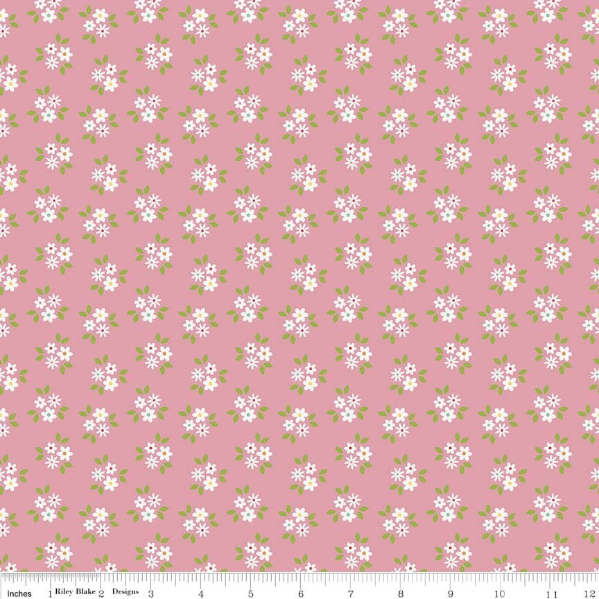 Garden Girl by Zoe Pearn for Riley Blake Designs C5664-pink