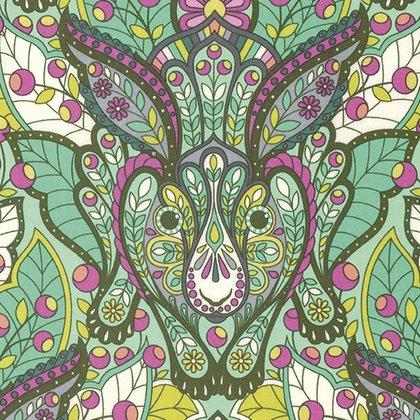 Slow & Steady Yardage Fabric by Tula Pink for Free Spirit Fabrics PWTP084.STRAW