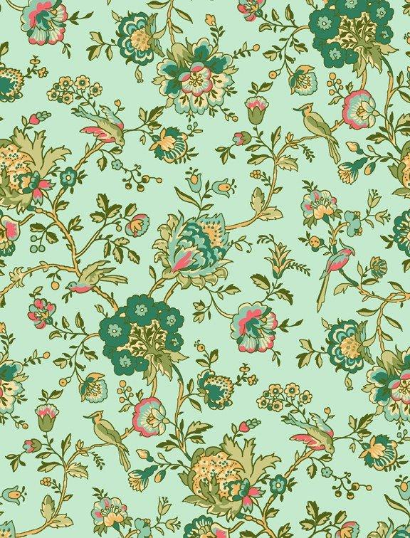 Village Garden Yardage Fabric by Kaye England for Wilmington Prints 98588 - 454