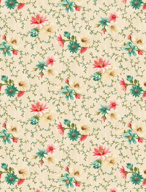 Village Garden Yardage Fabric by Kaye England for Wilmington Prints 98590 - 143