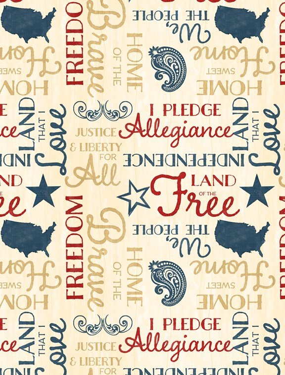 Colors of Freedom Yardage Fabric by Jennifer Pugh for Wilmington Prints 82466 134