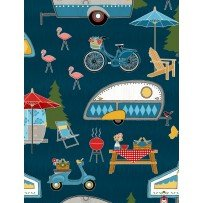 Let's Go Glamping by Anne Rowan for Wilmington Prints 68413-414