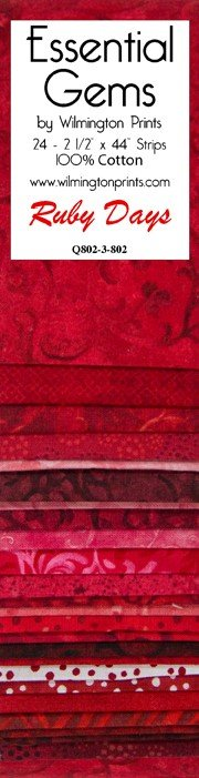 Wilmington Prints Essentials Gem Precuts Fabric Ruby Days