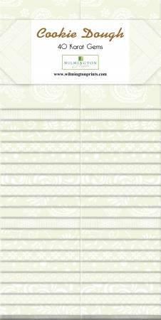 Wilmington Prints 40 Karat Gems 40 - 2 1/2 X 44 Cookie Dough