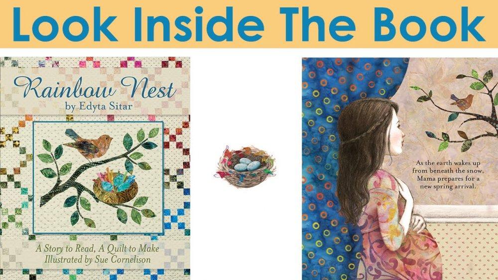 Rainbow Nest Children's Book with Quilt Pattern by Edyta Sitar : edyta sitar quilt patterns - Adamdwight.com
