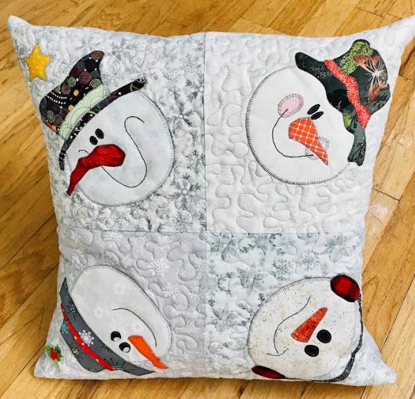 SHOP HOP SNOWMAN PILLOW 2019