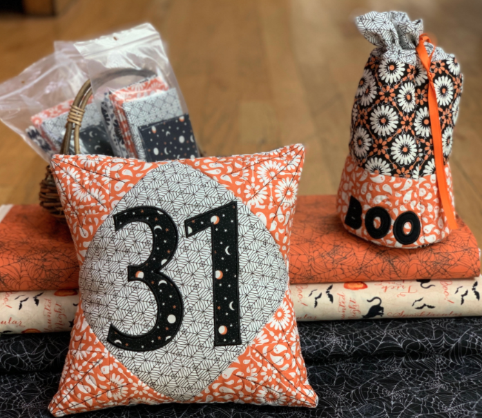31 Halloween Pillow Kit with designs