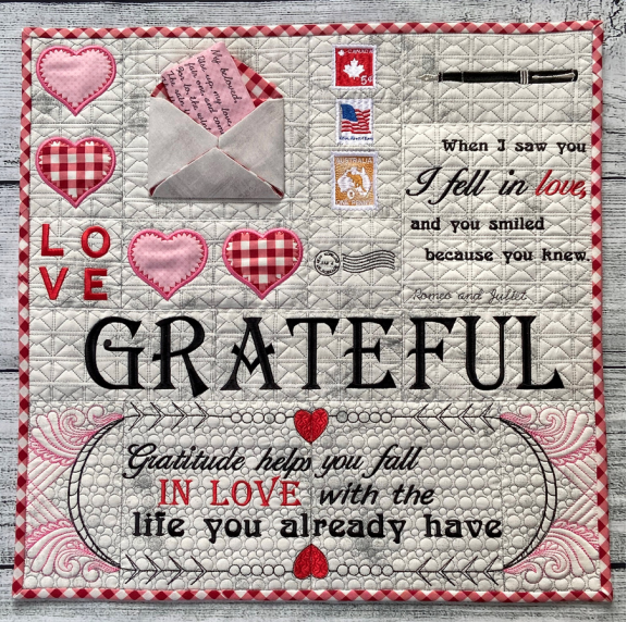 Hoopsister's Love Letter's Quilt Section Designs Preorder