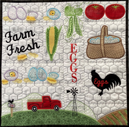 Hoopsister's Farm Fresh Quilt Section Designs Preorder