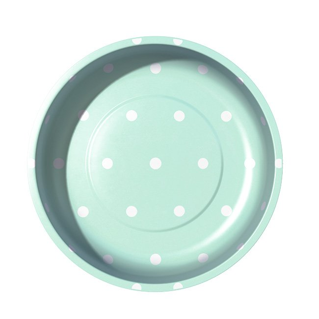 4 Magnetic Pin Bowl By Pleasant Home for Riley Blake Designs Mint Green Polka Dot