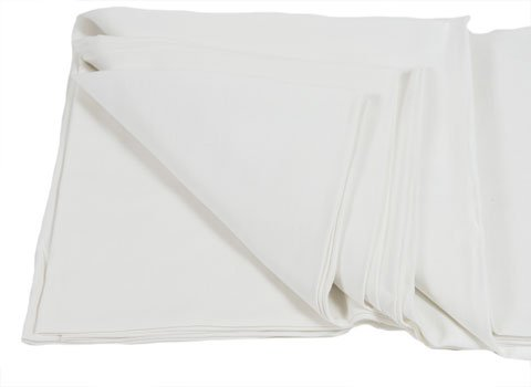 Plain White T-Towels 100% Cotton 28 X 28