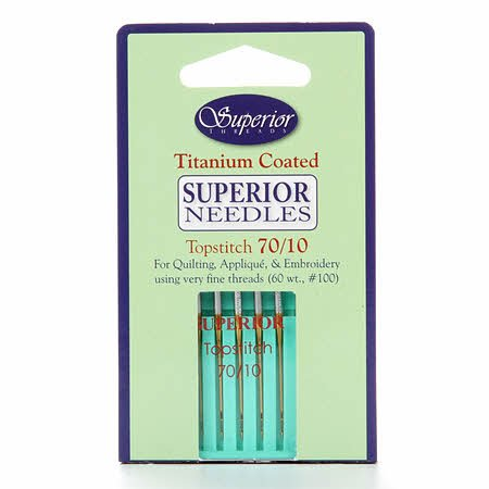 Superior Threads Topstitch Machine Needle- Size 70/10 5ct