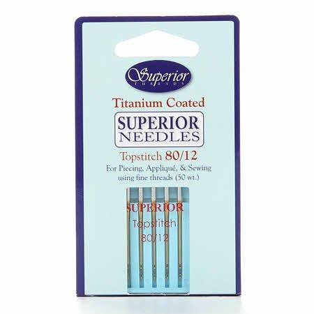 Superior Threads Topstitch Machine Needle- Size 80/12 5ct