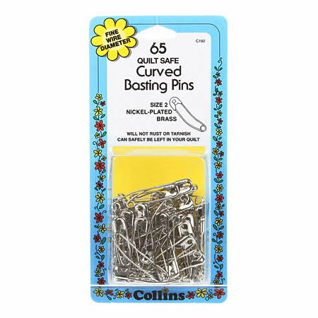 Collins Safety Pin Curved 1-1/2in Size 2- 65ct