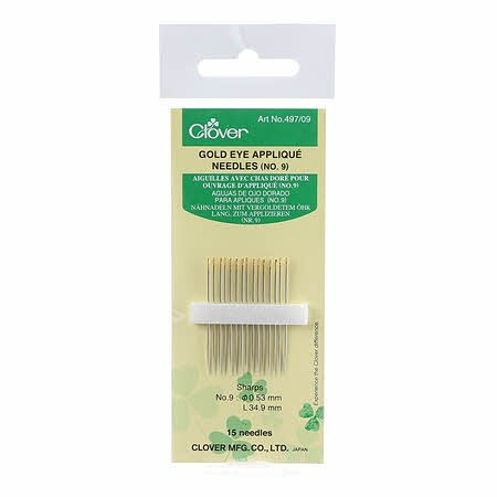 Clover Applique Needles- Size 9 15ct
