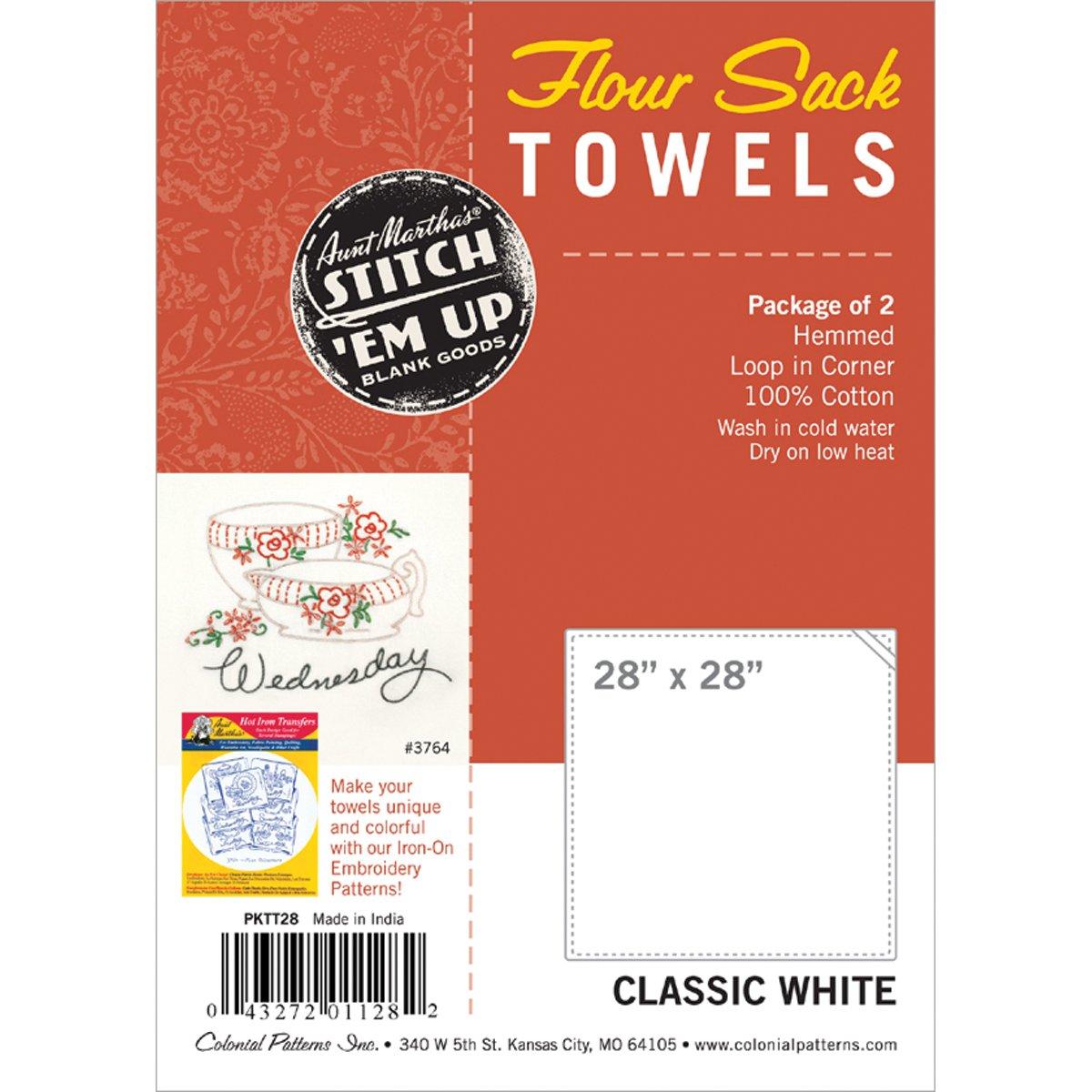 Aunt Martha's Flour Sack Towels- 28x28