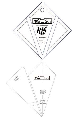 Bloc-Loc Kite In Square On Point- 3''