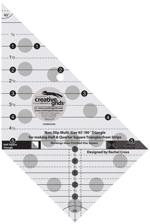 Creative Grids Multi Size Triangle 45/90 Degrees