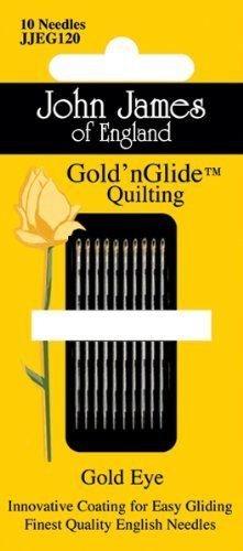 John James Gold'n Glide Quilting Needles- Size 12 10/Pkg