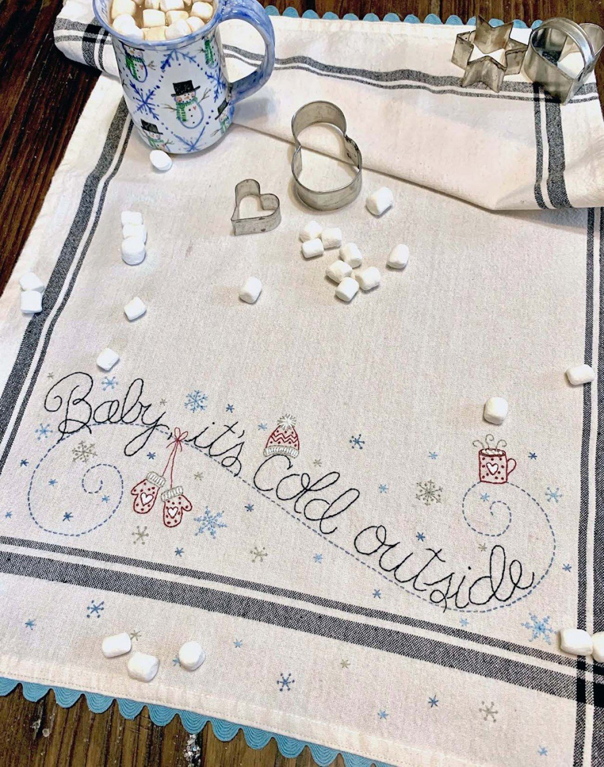 December: Baby, It's Cold Outside Dishtowel Kit - RESERVATION ONLY