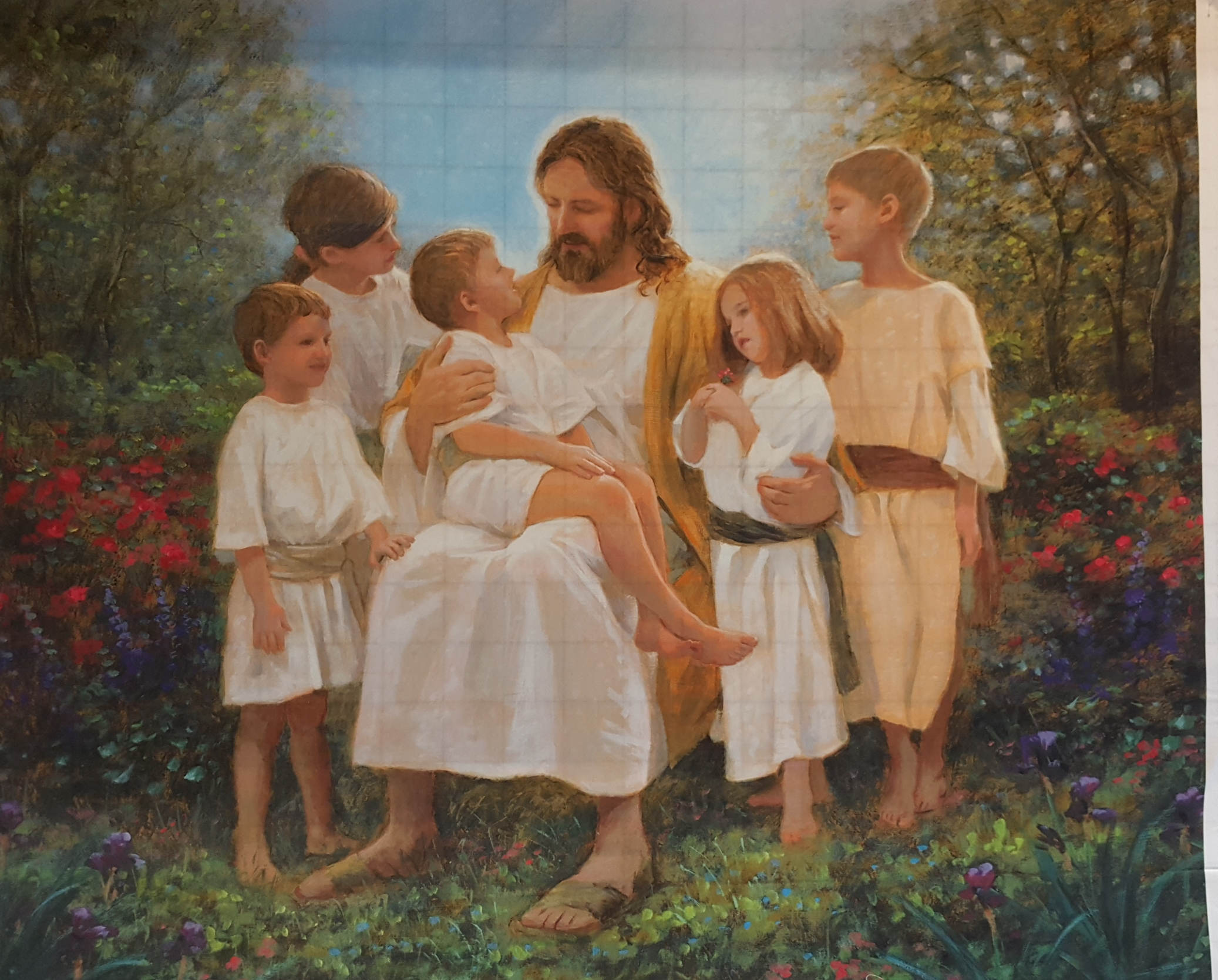 Jesus With Children 36 Panel
