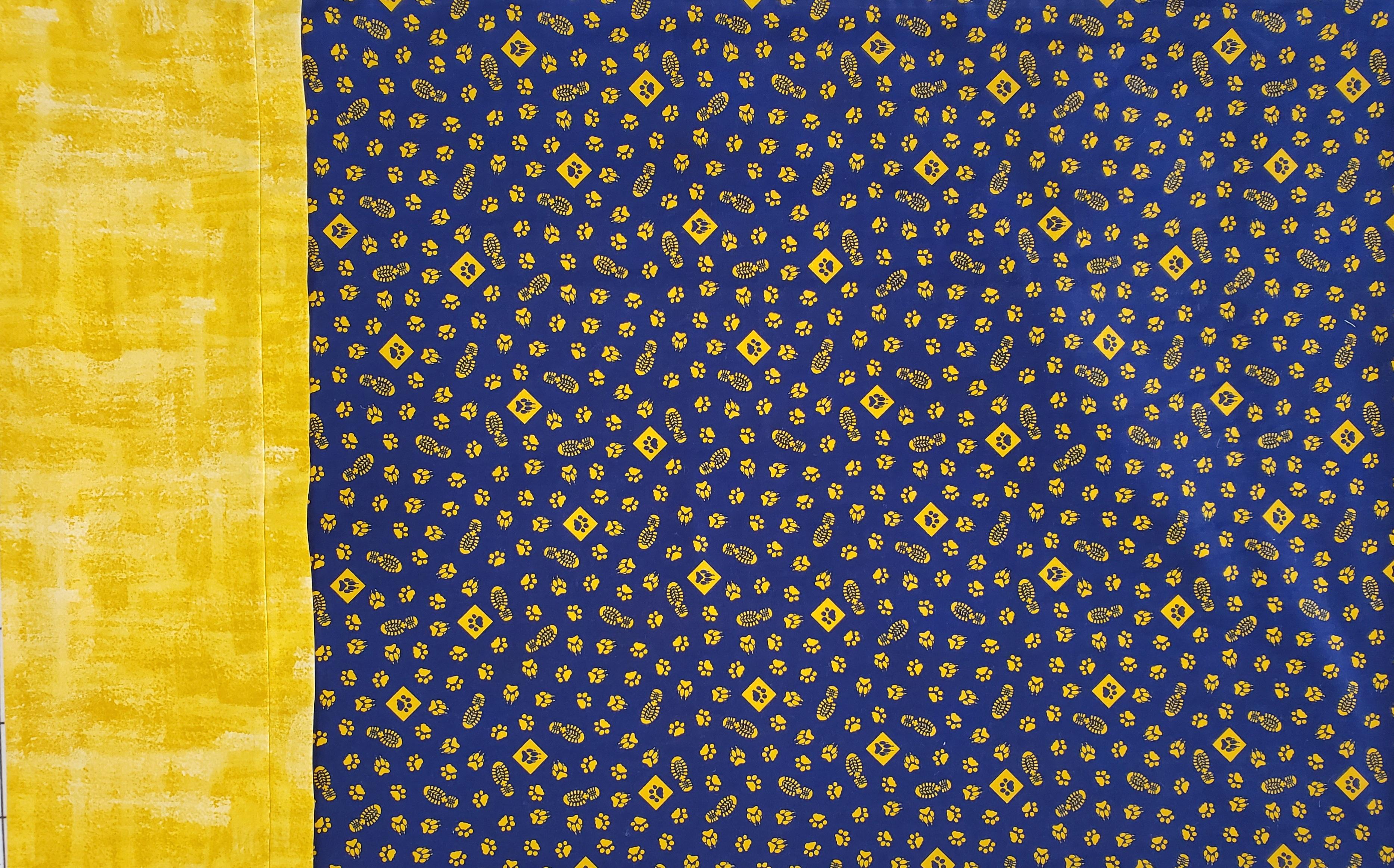 Cub Scout Pillowcase Kit Navy Yellow Standard Size