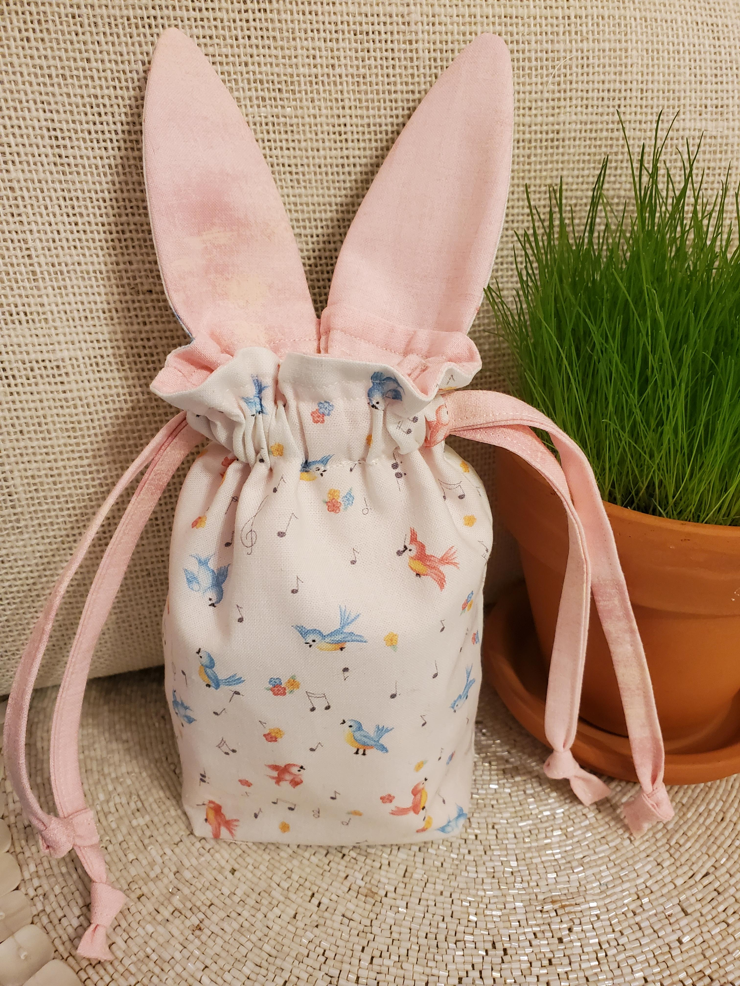 Draw String Bunny Baby PINK