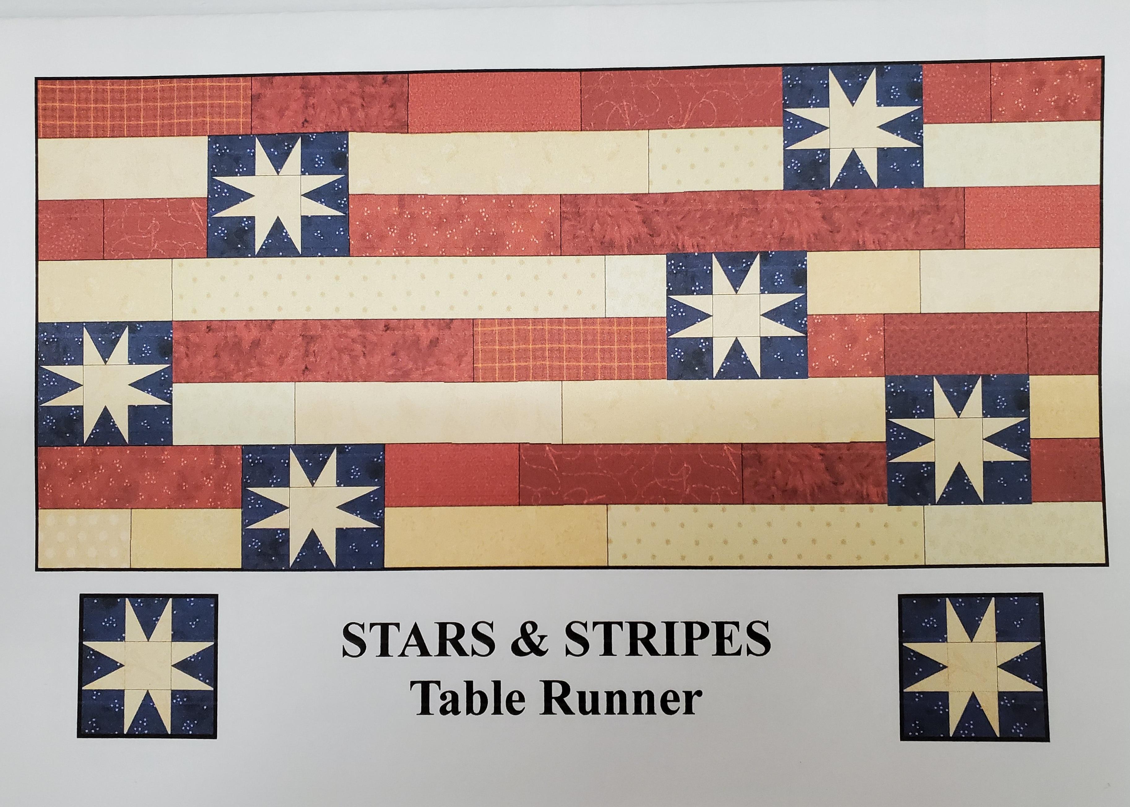 Stars & Stripes Table Runner Pattern