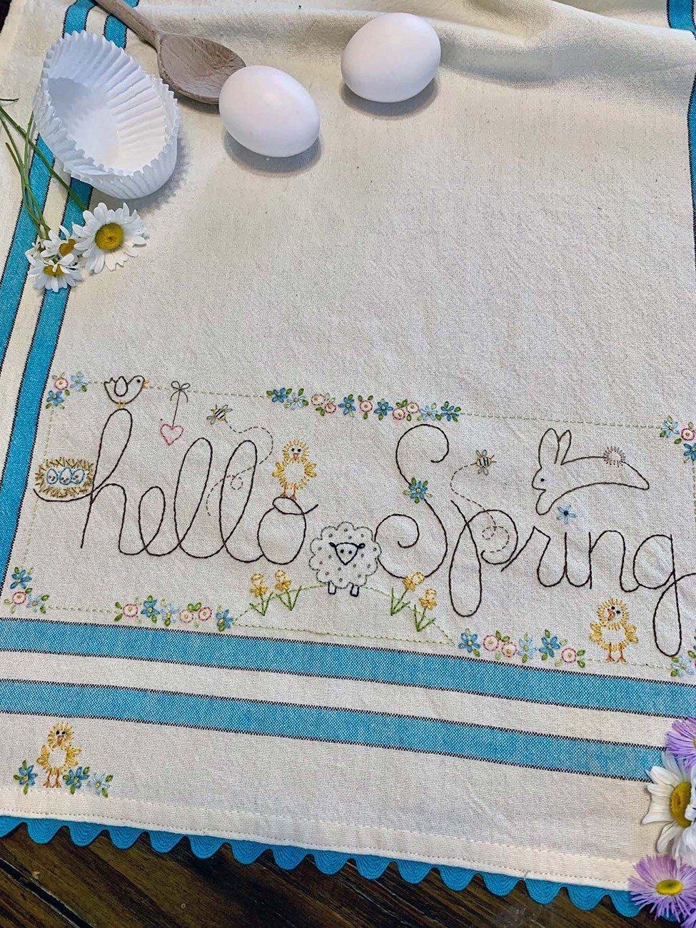 February: Hello Spring Dishtowel Kit - RESERVATION ONLY