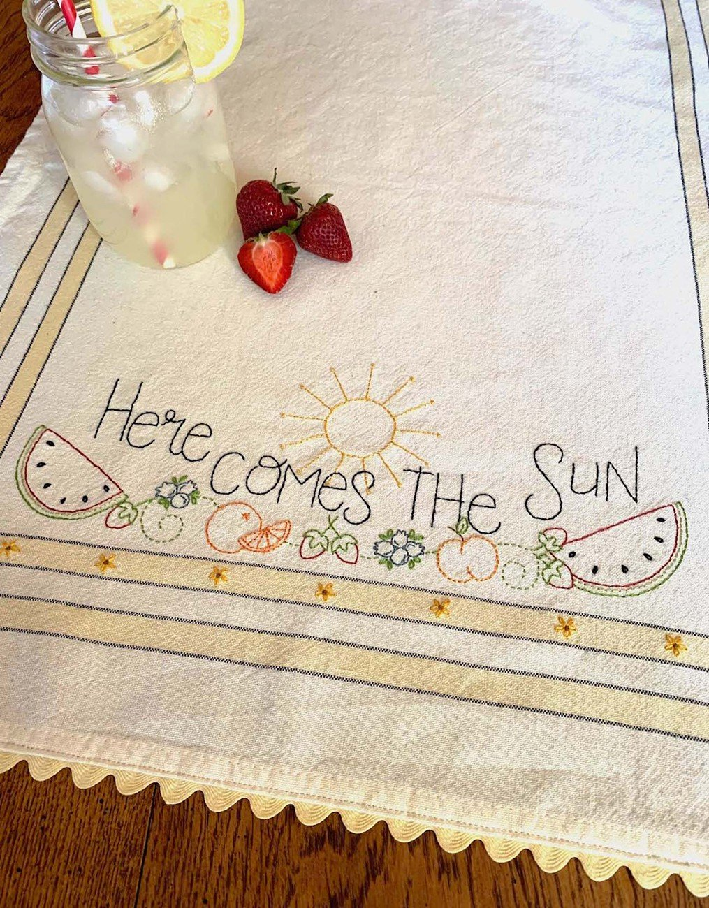 April: Here Comes the Sun Dishtowel Kit - RESERVATION ONLY