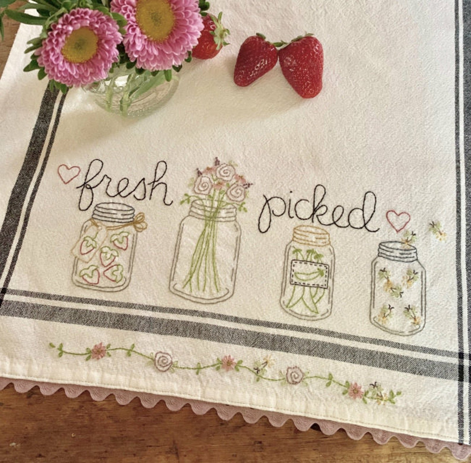 May: Fresh Picked Dishtowel Kit- RESERVATION ONLY
