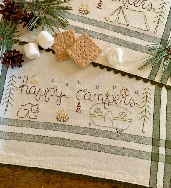 July: Happy Campers Dishtowel Kit - RESERVATION ONLY