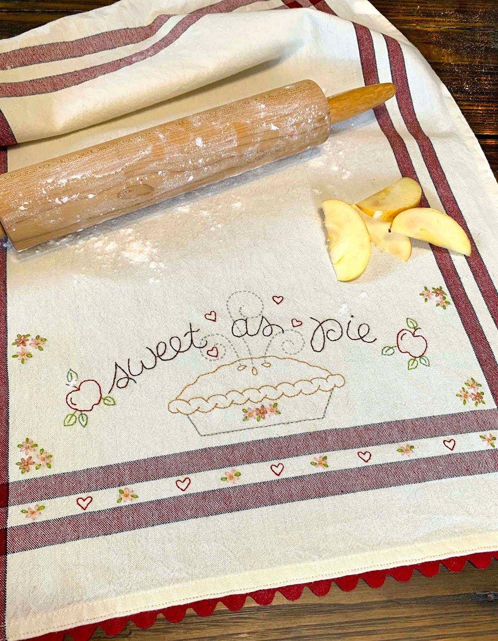 August: Sweet as Pie Dishtowel Kit - RESERVATION KIT