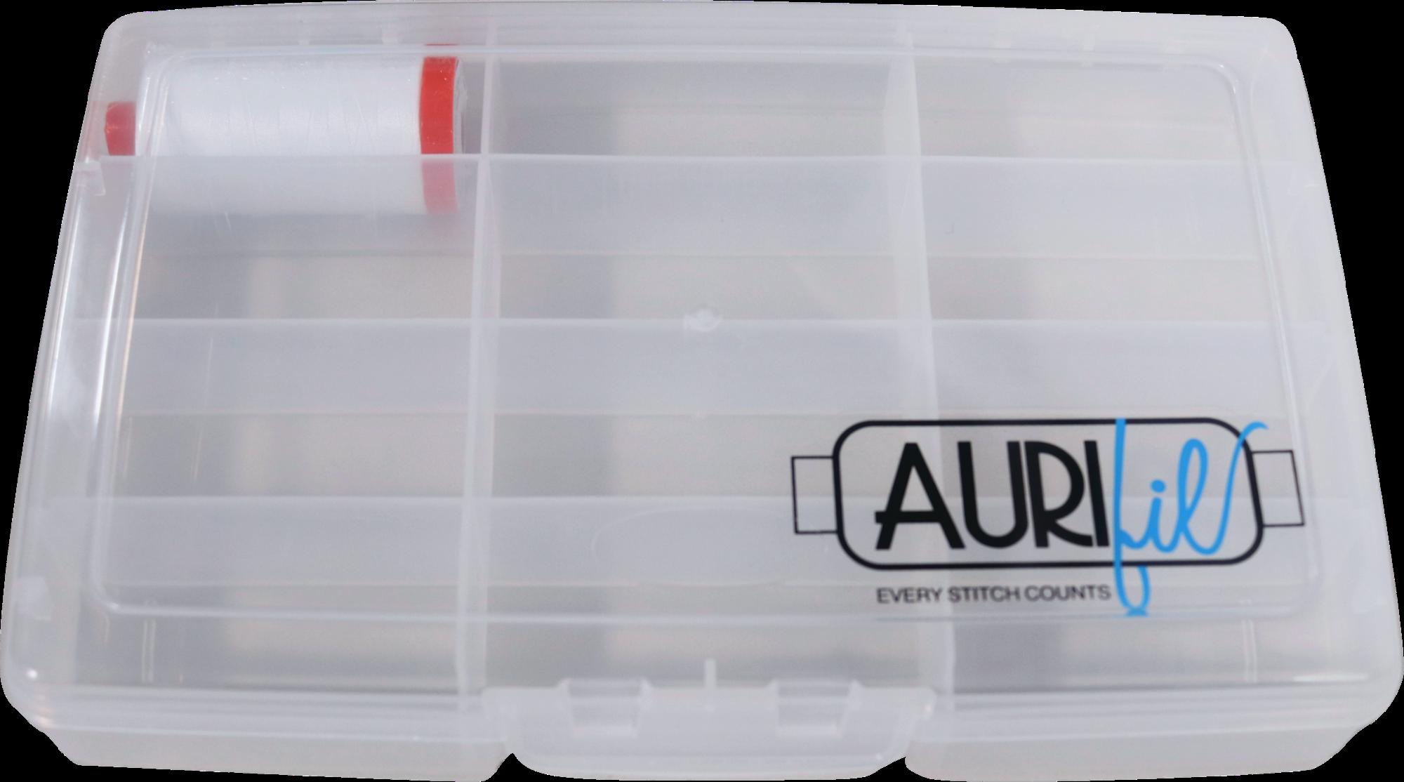 Aurifil Storage Box & Spool of White Thread