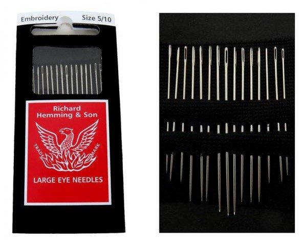 Embroidery Needles 5/10 Large Eye