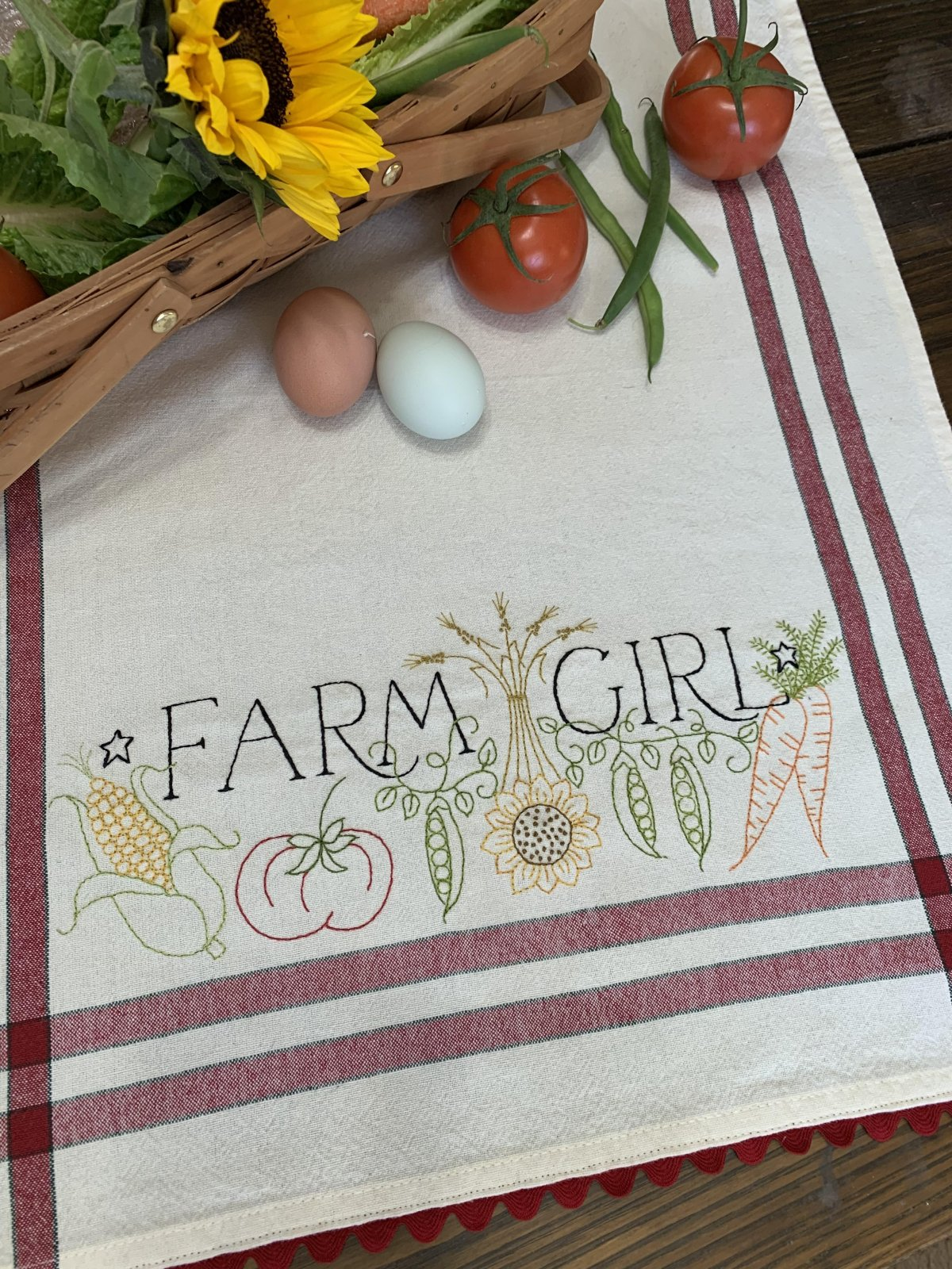 Farm Girl  Dishtowel Kit - EXTRA BONUS KIT