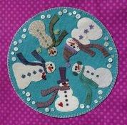 Frolicking Snowman Mat