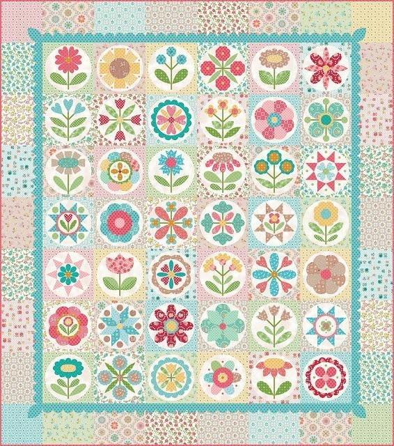 Grannys Garden Quilt KIT