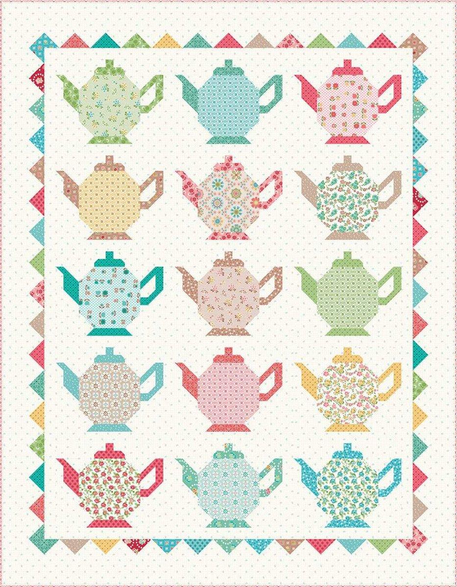 Grannys Teapots Quilt Kit